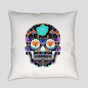 Dark Sugar Skull Everyday Pillow