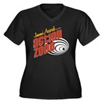 Action Zone Logo Black Plus Size T-Shirt