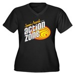 Action Zone Logo Red Plus Size T-Shirt