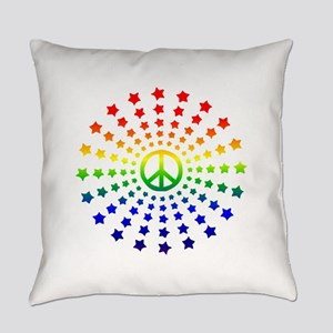 Peace Burst Everyday Pillow