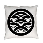 Overlapping waves in circle Everyday Pillow