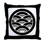 Overlapping waves in circle Throw Pillow