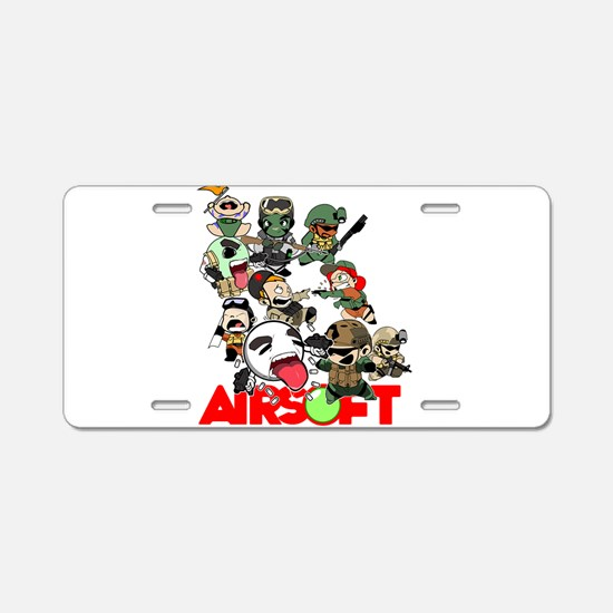 Airsoft Battle Royale Aluminum License Plate