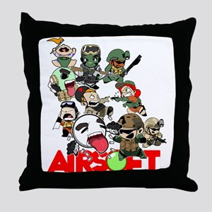 Airsoft Battle Royale Throw Pillow