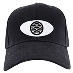 Overlapping waves in circle Baseball Hat