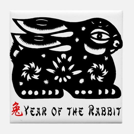Chinese Zodiac Rabbit Tile Coaster