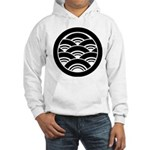 Overlapping waves in circle Hoodie