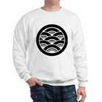 Overlapping waves in circle Sweatshirt
