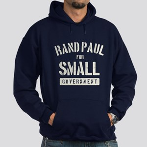 Rand Paul for small government Hoodie (dark)