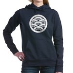 Overlapping waves in circle Women's Hooded Sweatsh