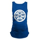 Overlapping waves in circle Maternity Tank Top
