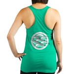 Overlapping Waves In Circle Racerback Tank Top