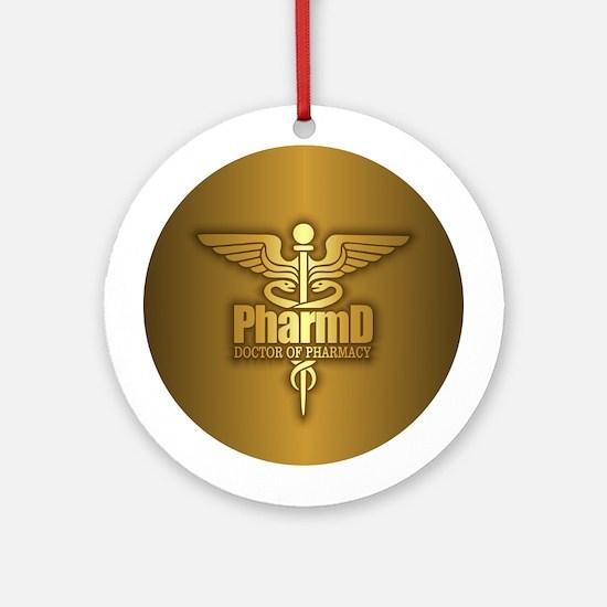 PharmD gold Ornament (Round)