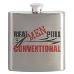 REAL MEN PULL CONVENTIONAL Flask
