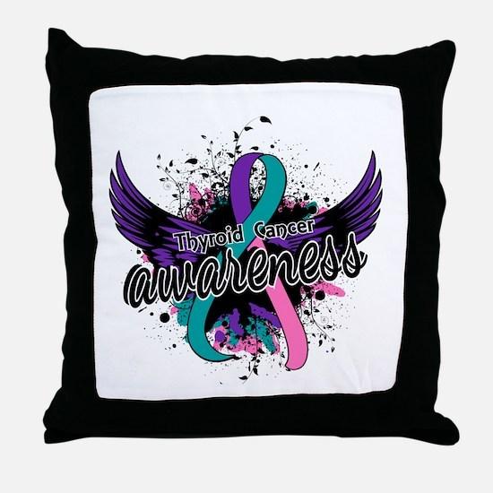Thyroid Cancer Awareness 16 Throw Pillow