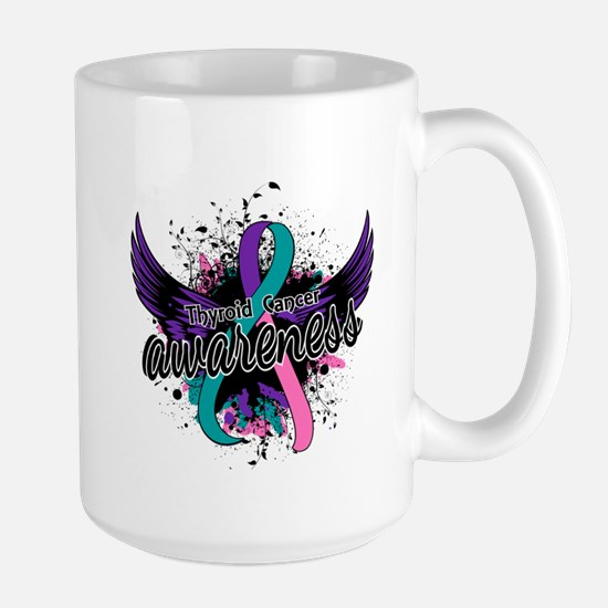 Thyroid Cancer Awareness 16 Large Mug