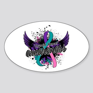 Thyroid Cancer Awareness 16 Sticker (Oval)