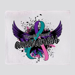 Thyroid Cancer Awareness 16 Throw Blanket