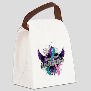 Thyroid Cancer Awareness 16 Canvas Lunch Bag