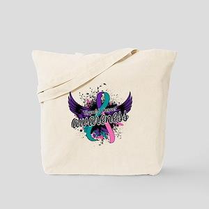 Thyroid Cancer Awareness 16 Tote Bag