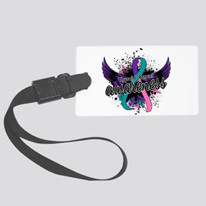 Thyroid Cancer Awareness 16 Large Luggage Tag