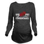 Real Men Pull Conventional Long Sleeve Maternity T