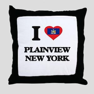I love Plainview New York Throw Pillow