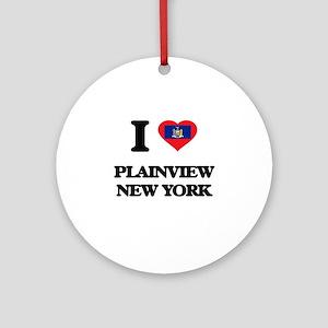 I love Plainview New York Ornament (Round)