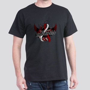 Throat Cancer Awareness 16 Dark T-Shirt
