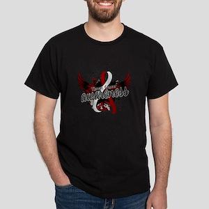 Throat Cancer Awareness 16 Dark T-Shirt