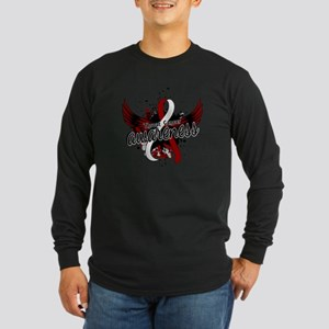 Throat Cancer Awareness 1 Long Sleeve Dark T-Shirt