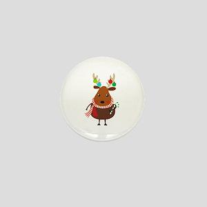Christmas Reindeer Mini Button