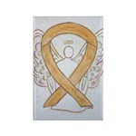 Amber Ribbon Angel Magnets (100 Pack)