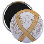 Amber Ribbon Angel Magnets