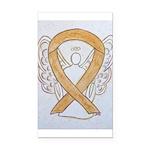 Amber Ribbon Angel Rectangle Car Magnet