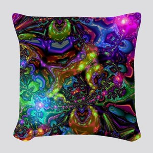 Psychedelic Woven Throw Pillow