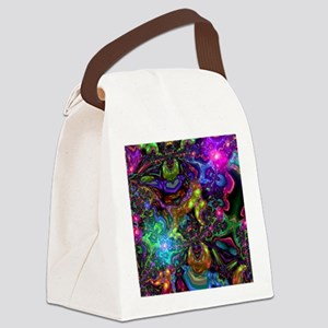 Psychedelic Canvas Lunch Bag