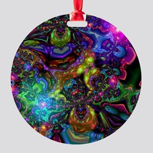 Psychedelic Round Ornament