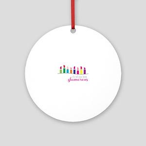 Glamorous Lipsticks Ornament (Round)
