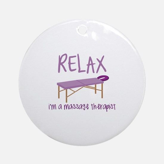 Relax Message Table Ornament (Round)