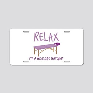 Relax Message Table Aluminum License Plate