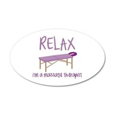 Relax Message Table Wall Decal