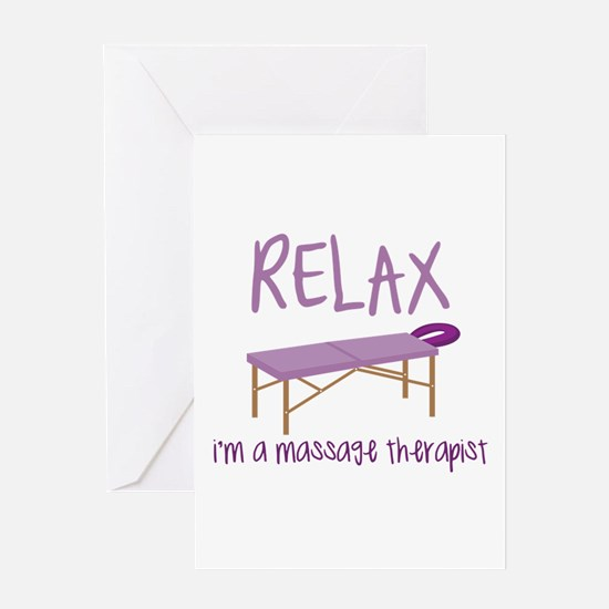Relax Message Table Greeting Cards