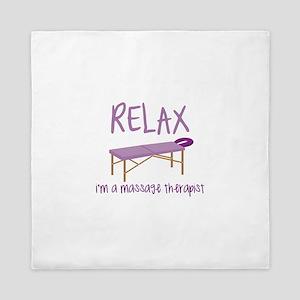 Relax Message Table Queen Duvet