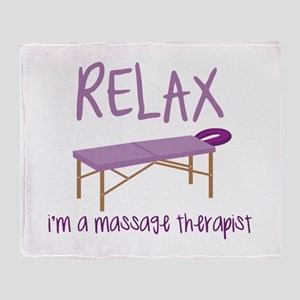 Relax Message Table Throw Blanket