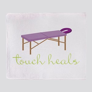 Touch Heals Table Throw Blanket
