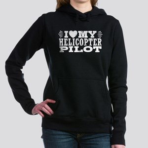 I Love My Helicopter Pil Women's Hooded Sweatshirt
