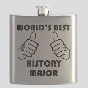 Worlds Best History Major Flask