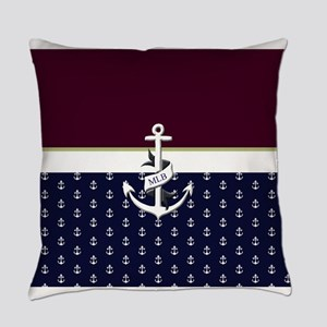 Anchor Monogram Everyday Pillow