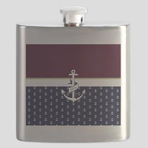 Anchor Monogram Flask